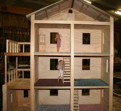 Build It, Sew It, Love It: DIY Barbie House - ....sigh.... maybe one day I'll finally have a home for Barbie, this one is beautiful
