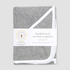 Organic Cotton Hooded Towel - Heather Gray One Size Organic Baby, Organic Cotton, Teething Gel, Hooded Bath Towels, Baby Cover, Burts Bees, Baby Knitting, Heather Grey, Hoods