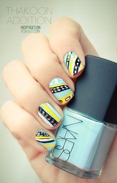 #nail #unhas #unha #nails #unhasdecoradas #nailart #tribal #colorido #colorful