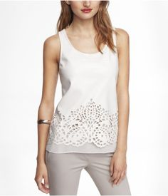 MIXED MEDIA CUT-OUT TANK | Express