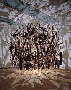 Cornelia Parker Cold Dark Matter: An Exploded View 1991 Mixed media unconfirmed: 4000 x 5000 x 5000 mm Presented by the Patrons of New Art (Special Purchase Fund) through the Tate Gallery Foundation 1995 Cornelia Parker