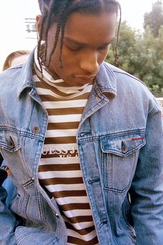 celebritiesofcolor: ASAP Rocky for GUESS