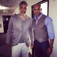 Rick Fox and Boris Kodjoe, in the same place at the same time . Too much fineness.