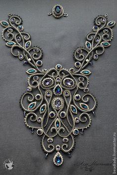 Колье, бусы ручной работы. Ярмарка Мастеров - ручная работа Колье Baroque с кристаллами Swarovski. Handmade.