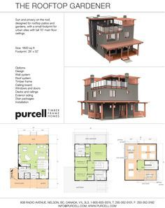 Purcell Timber Frames - The Roof Top Gardener - Full Home Design and Package - love the roof top