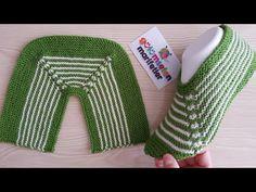Çok kolay Bayan patik modeli / iki şiş ile yeni patik modelleri /Ç. Knitting Socks, Knitting Stitches, Baby Knitting, Crochet Baby, Knit Crochet, Knitting Videos, Knitting Projects, Crochet Projects, Knitting Patterns