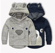 Winter Baby Boy Clothes Cartoon Bear Thicken Children Hoodies Coral Fleece Kids Sweaters Jackets Warm Baby Outerwear Coats - Kid Shop Global - Kids & Baby Shop Online - baby & kids clothing, toys for baby & kid Little Boy Outfits, Baby Boy Outfits, Kids Outfits, Little Boys Clothes, Toddler Boy Fashion, Kids Fashion, Fashion Outfits, Fashion Trends, Womens Fashion