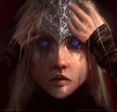 The poor sightless firekeeper.. You'd think granting them their eyes would be a good thing.. A helpful thing... But it only makes them suffer more.. they only are given eyes.. when the Great Betrayal is near.. And they get to bear witness..