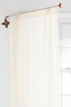 Brass Crisscross Swing Curtain Rod