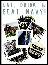 Eat, Drink & Beat Navy 2014 Cookbook -- a lot of amazing spouses at West Point/USMA busted their butts, myself included, to make this awesome cookbook. Over 500 recipes and proceeds go to grants and scholarships. Amazing!