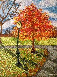 "Pointilism ""The Crooked Lamppost""  -Kimberly Hepburn"