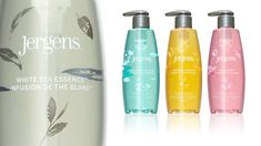 Jergens | Nice clean, upscale packaging for Jergens fine liquid hand wash.