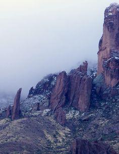Low Cloud over Superstition Mt.