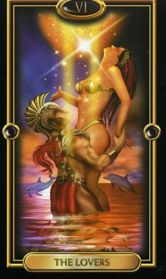 6. The Lovers - Tarot Gilded