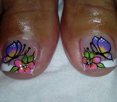 Toe Nail Designs, Nail Polish Designs, Toe Nail Art, Toe Nails, New Nail Art Design, Flower Nails, Nail Arts, Manicure And Pedicure, Glitter Nails