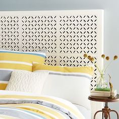 twin bed - Carved Headboard - White #westelm