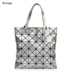 300c3a5200a5 Ladies Folded Geometric Plaid Bag Women Fashion Casual Tote Top-handle Bag  Shoulder Bags Bao