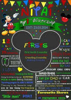 Mickey Mouse Chalkboard