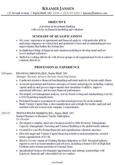 Investment Representative Sample Resume Prepossessing 1 Page Cv Template Minimal Design  Cv Template Resume Objective .
