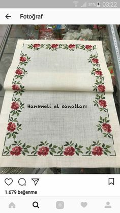 This post was discovered by kaneviçe. Discover (and save!) your own Posts on Unirazi. Cross Stitch Heart, Cross Stitch Borders, Cross Stitch Flowers, Cross Stitching, Cross Stitch Embroidery, Cross Stitch Patterns, Embroidery Patterns Free, Vintage Embroidery, Diy Crafts Hacks