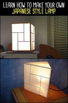 Why buy costly Japanese lamps when you can DIY? Achieve the same look using only common and inexpensive craft materials!