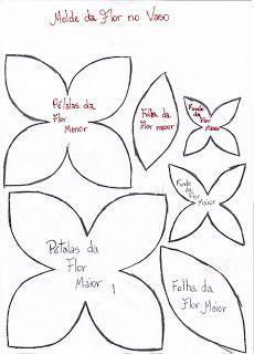 Blog da Polly: MOLDES DE FLORES