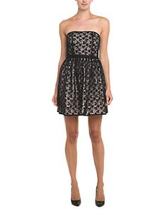 RED Valentino Black Lace Belted Dress
