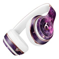 Vibrant Purple Deep Space Full-Body Skin Kit for the Beats by Dre Solo 3 Wireless Headphones Cute Headphones, Wireless Headphones, Beats Headphones, Over Ear Headphones, Mobile Technology, Medical Technology, Energy Technology, Computer Robot, Phone Gadgets