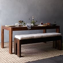 Perfect if the bench slides under the table.          Boerum Dining Bench