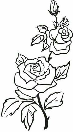 Details about Two Roses Outline Rose Flowers Wall Stickers Wall Art Decal Trans. - Details about Two Roses Outline Rose Flowers Wall Stickers Wall Art Decal Transfers - Rose Outline Tattoo, Rose Outline Drawing, Tatuagem Diy, Two Roses, White Roses, Rosen Tattoos, Plant Drawing, Bush Drawing, Vine Drawing