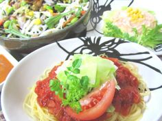 tomato sauce & spiced cod roe cream sauce pasta (by Rika.I)