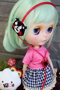 Blythe Bear headphone por kuloft en Etsy