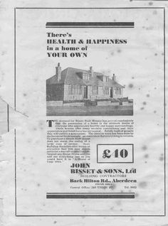 Houses for sale at Aberdeen, Scotland - deposit - date unknown Granite City, Aberdeen Scotland, City By The Sea, Nostalgia, History, Bungalow, Irish, Pictures, Houses