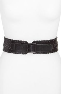 Vince Camuto Chevron Whipstitch Belt available at #Nordstrom