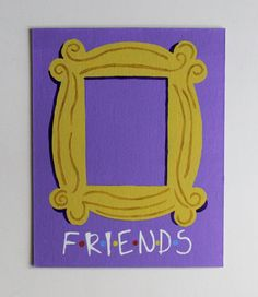 Friends TV Show Door Frame Monica's Apartment Handmade Acrylic Painting on 8x10 Canvas Board - Frame NOT Included by fiberandgloss on Etsy https://www.etsy.com/listing/286250573/friends-tv-show-door-frame-monicas