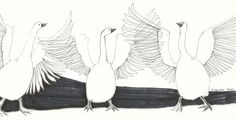 Original drawing WILD GEEESE // bird sketches by by elisavetasivas