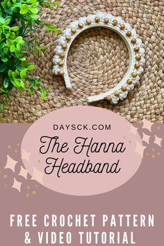 This adorable boho crochet headband works up very quickly and looks beautiful on all ages! It would make a great gift and would be perfect for any season. #crochetheadband #beadedheadband #bohocrown #bohocrochet Double Crochet, Single Crochet, Crochet Designs, Crochet Patterns, Head Band, Popcorn Stitch, Crochet Headband Pattern, Yarn Sizes, Ear Warmers