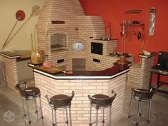 47 Ideas exterior brick design patio for 2019 Outdoor Oven, Outdoor Cooking, Brick Bbq, Four A Pizza, Mexico House, French Style Homes, Brick Design, Exterior Design, Rocket Stoves