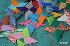 Origami Ninja Stars!  Paper folding Ninja Stars is such a fun activity for kids!
