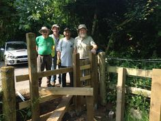 A team from Warwickshire Conservation Volunteers built a new stile.