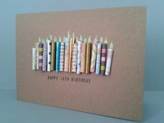Happy 18th Birthday Candle Card, Can be Personalised.