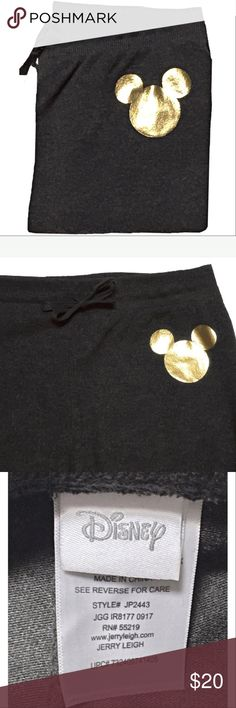 DISNEY MICKEY MOUSE JOGGER CROPPED SWEATS. S/M NEW NEW, COMFY, CUTE & CLASSY DISNEY MICKEY MOUSE JOGGER STYLE SWEATPANTS. DARK HEATHERED GRAY WITH GOLD MICKEY MOUSE DETAIL. SUPER SOFT, LIGHTWEIGHT AND PERFECT FOR ALL WEATHER! SIZE MEDIUM BUT THEY WILL FIT A SIZE SMALL AS WELL. JUST PURCHASED FROM FELLOW POSHER BUT UNFORTUNATELY THEY DIDN'T WORK OUT FOR ME. WOULD DEFINITELY KEEP OTHERWISE- THEY ARE AWESOME AND PERFECT FOR A DAY AT DISNEY! NWOT ;) Disney Pants Track Pants & Joggers