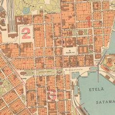 Helsinki ennen ja nyt Signe Branderin kuvia Helsingistä vuosilta 1907-1912. Helsinki, Map Pictures, 12 Year Old, Finland, Maps, City, Google, Historia, Blue Prints