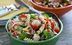 Pasta Salad with Grilled Summer Veggies and Fresh Mozzarella // Featuring the summertime flavor of grilled veggies! #summer #recipe #grill #salad