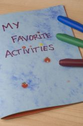 write summer activities list then come back and write about them after completed.