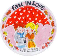 Platte schaal Fall in love - Blond-Amsterdam officiële website