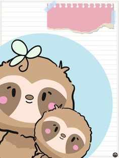 Cute Images, Cute Pictures, Cute Animal Clipart, Blue Nose Friends, Cute Sloth, Borders For Paper, Embroidery Hoop Art, Drawing For Kids, Cute Illustration