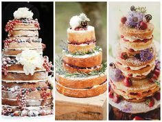 Tendências de bolos de casamento