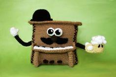 amigurumi pdf pattern (crochet pattern): mr. piano. patrón de amigurumi en pdf lana,vellón siliconado,ganchillo de crochet crochet