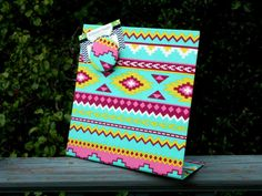 Aztec Magnetic Board  Trendy  9 x 8 by rememorydesigns on Etsy
